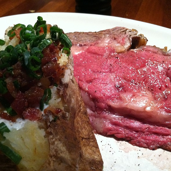 Prime Rib And Baked Potato