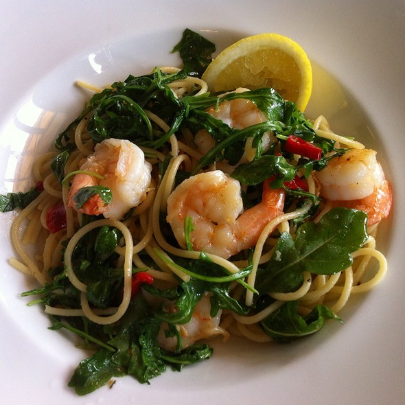 Spaghetti Prawns Chilli Roquette Lemon @ HONEY Bar and Restaurant