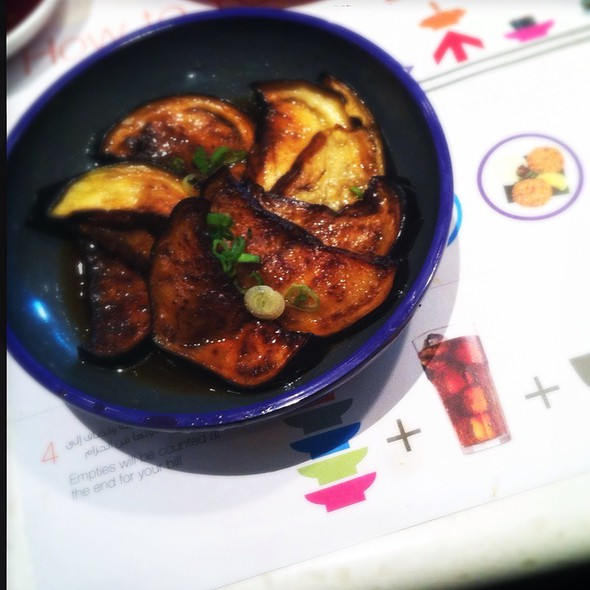 Aubergine With Harusame Dressing