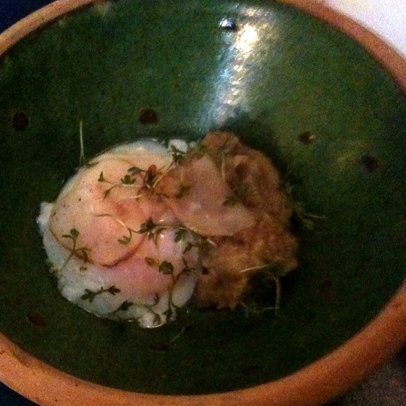 Poached Egg W/ Jerusalem Artichoke Mousse @ Manfred's