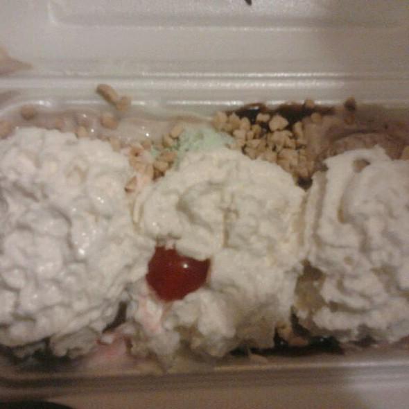 Three Scoop Hot Fudge Sundae  @ Oberweis ice Cream And Diary
