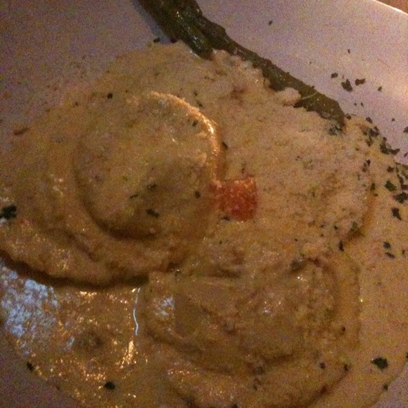 Ravioli Stuffed With Portobella And Porcini Mushrooms In Asparagus Sauce - Panta Rei, San Francisco, CA