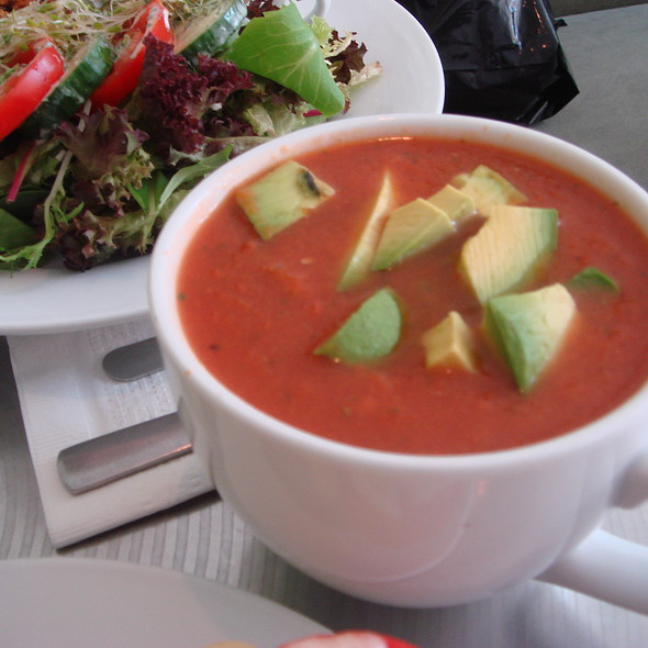 Gazpacho with Mangos and Avocado @ Teany