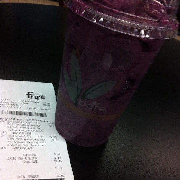 Grapeful Dead Smoothie! @ Fry's Food Store