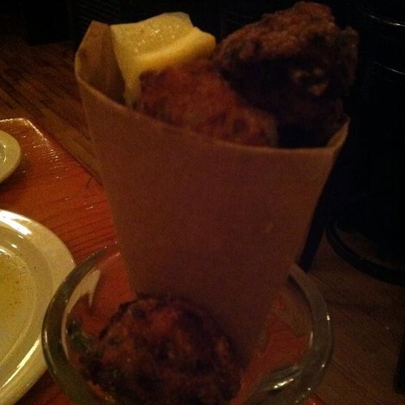 cod fritters @ Restaurant au Pied de Cochon