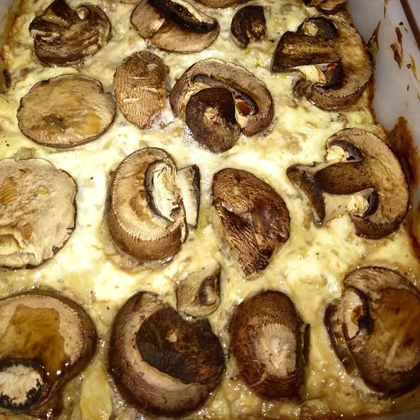 mushroom casserole @ Cracker Box Palace