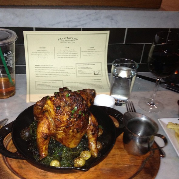 Roasted half poulet rouge chicken @ Park Tavern