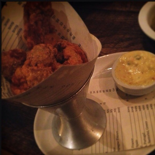 fried oysters @ The Bakery at Cakes & Ale
