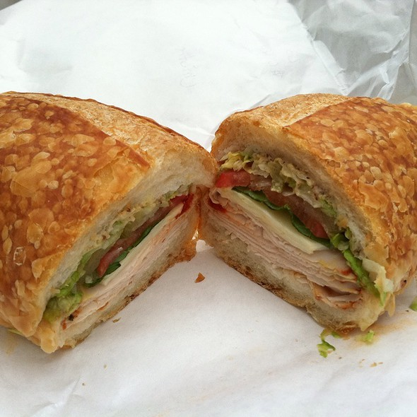 Spicy Turkey & Provolone Sandwich @ Bay Cities Italian Deli