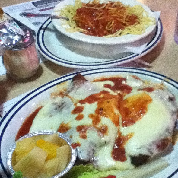 Chicken Cutlet Parmigiana @ Nanuet Diner Inc