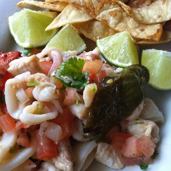 Ceviche With Tortilla Chips @ Black Bottle Postern