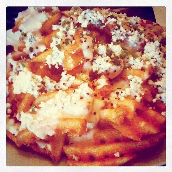 Criscut Fries With Crumbled Bleu Cheese - Palomino - Los Angeles, Los Angeles, CA