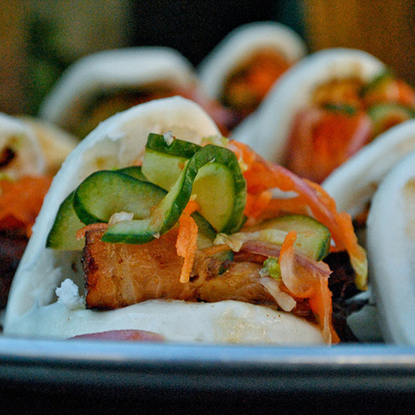 Korean BBQ Pork Belly Happy Buns @ Polo Grill and Bar