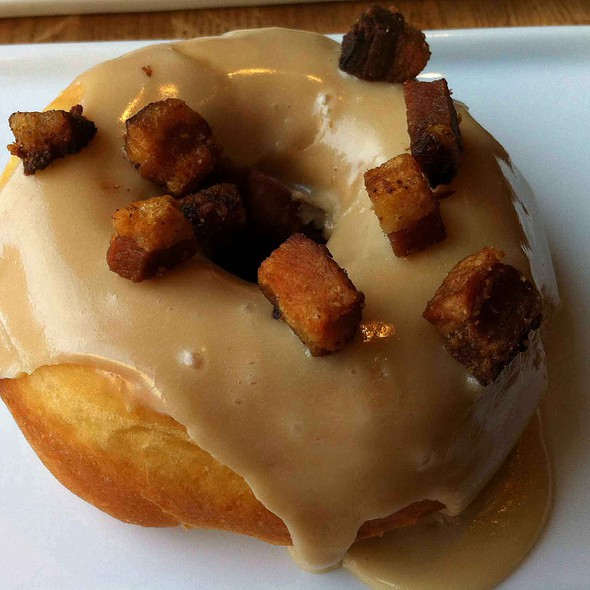 Bacon And Maple Glazed Doughnut  @ 2 Sparrows