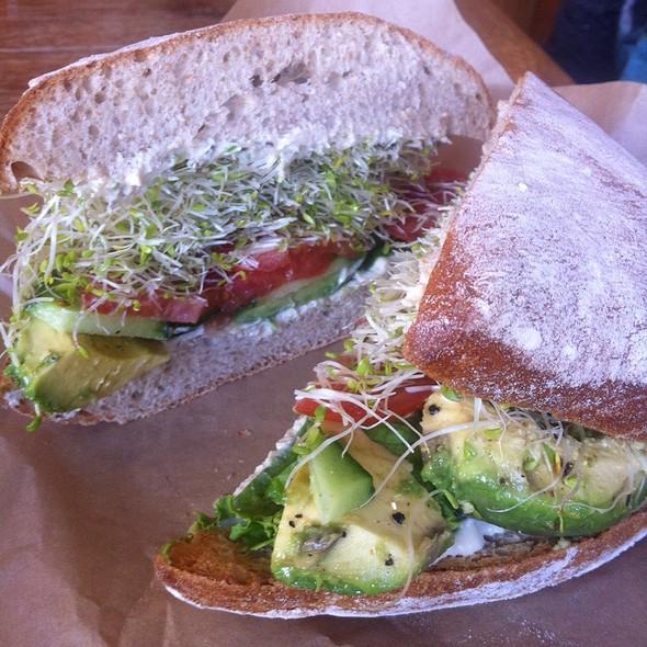 Avocado-Veggie Sandwich @ Peace Cafe