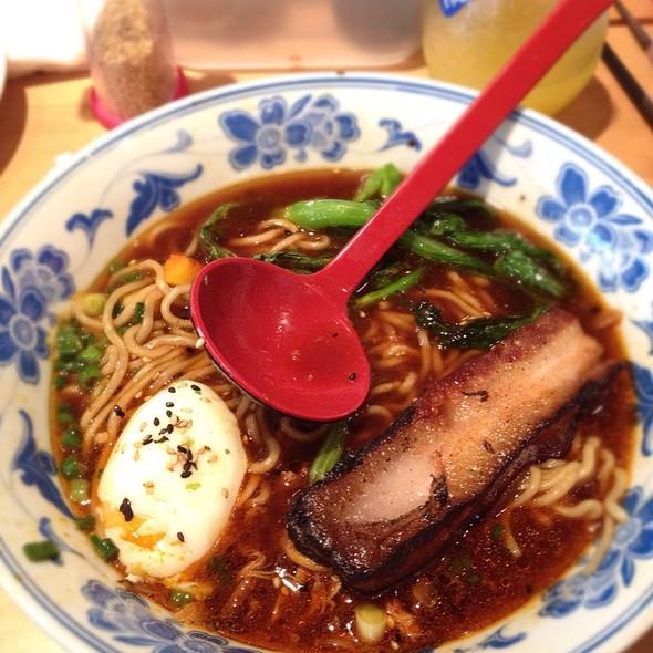 Pork Ramen With Pork Belly And Slow-Poached Egg @ Boke Bowl