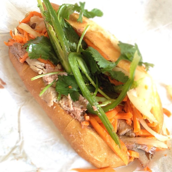 Roasted Pork Banh Mi @ Saigon Sandwich