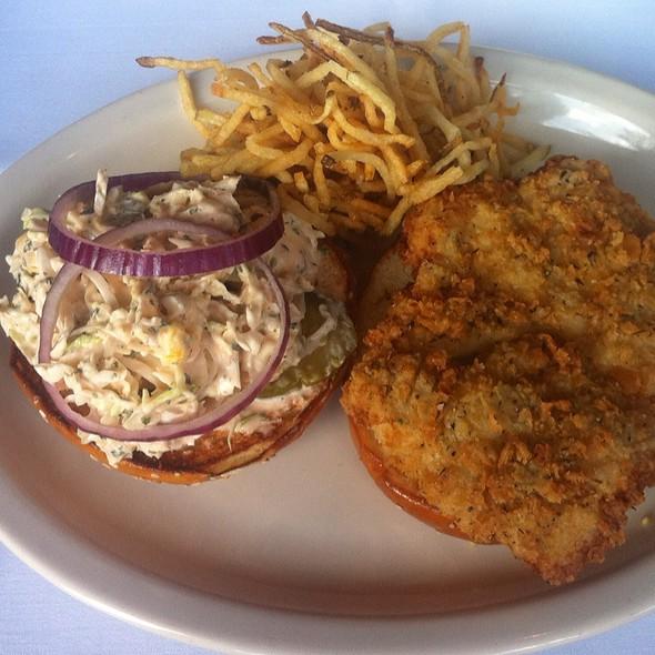 Grouper Sandwich With Fries @ Houston's Restaurant