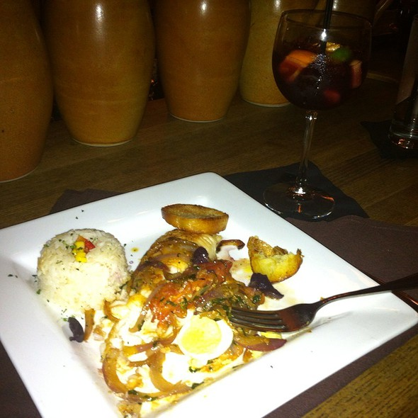 Tilapia Rice Egg Potatoes @ Mango Peruvian Cuisine