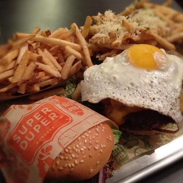 Burger With Fried Egg @ Super Duper Burger
