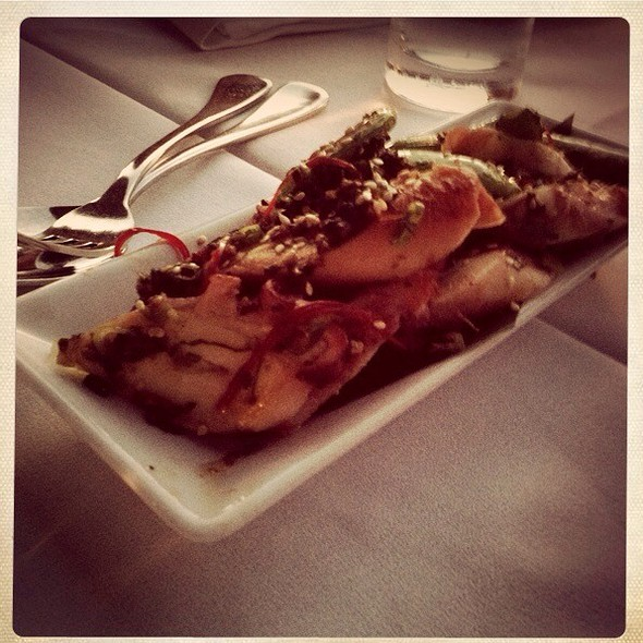 Grilled Freemantle Octopus With Spicy Sesame Chilli Sauce @ China Doll