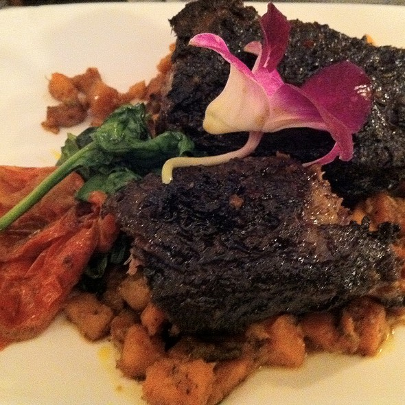 Braised Beef Short Ribs With Sweet Potato Puree  @ Windfall Restaurant