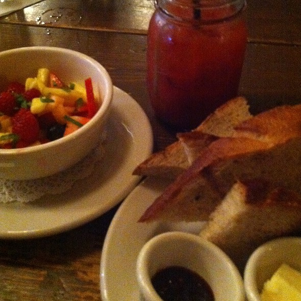 Fresh Fruits, Bread And Bloodymary @ Le Barricou