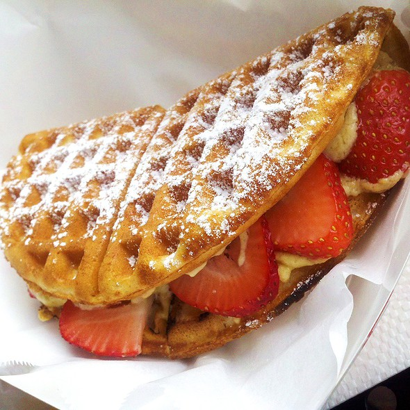 Strawberry Irish Cream Creme Brulee Waffle