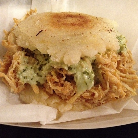 Chicken Sofrito Arepas @ Wow Food Truck