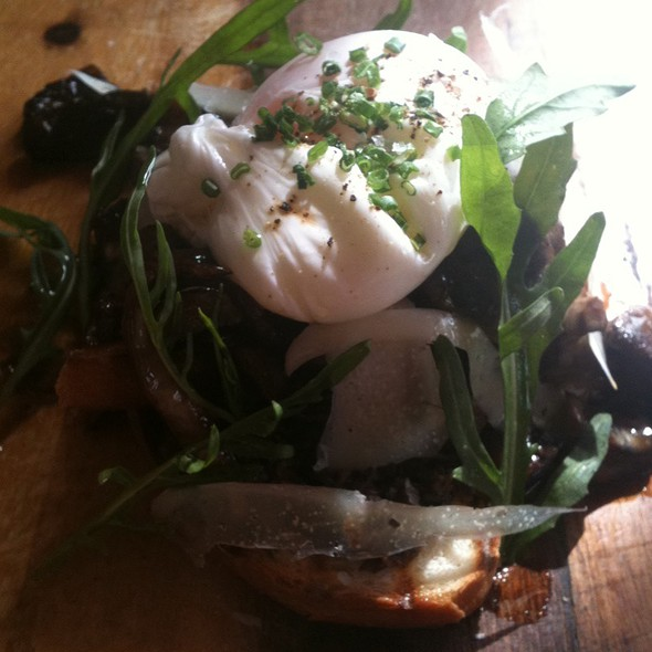 Deluxe Mushrooms On Sourdough Toast With Poached Egg