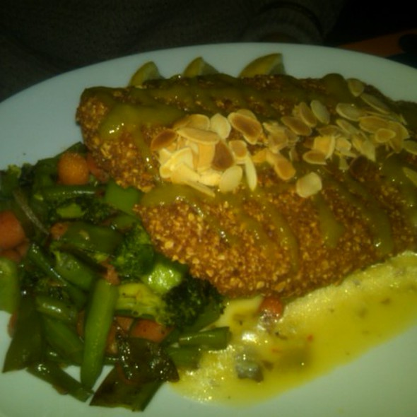 Almond Crusted Tilapia @ Agozar Cuban Bistro Bar