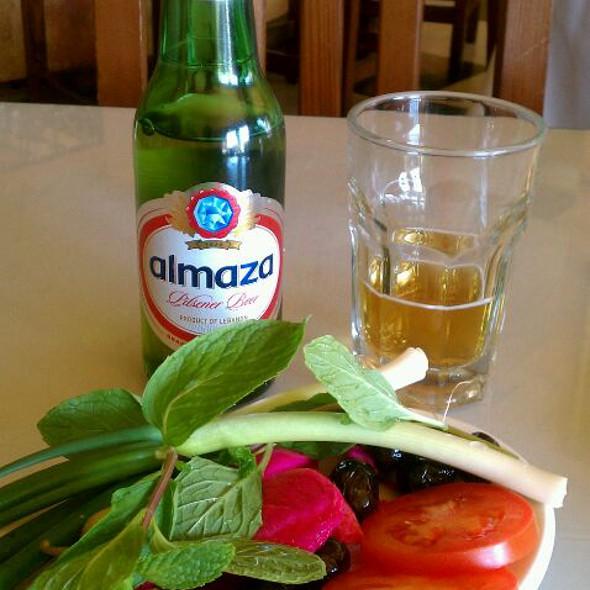 Almaza Lebanese Beer - Marouch Restaurant, Los Angeles, CA