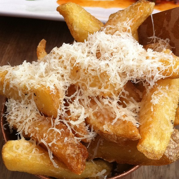 Posh Chips With Truffle Oil And Parmesan @ Jamie's