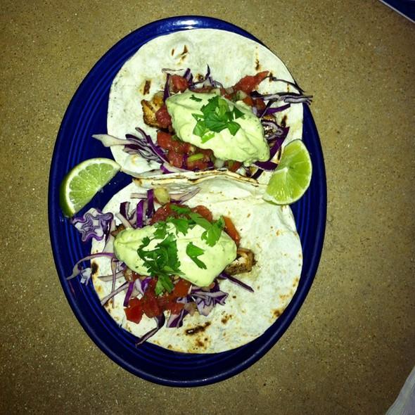 Grilled Mahi Mahi Fish Tacos @ front porch cafe