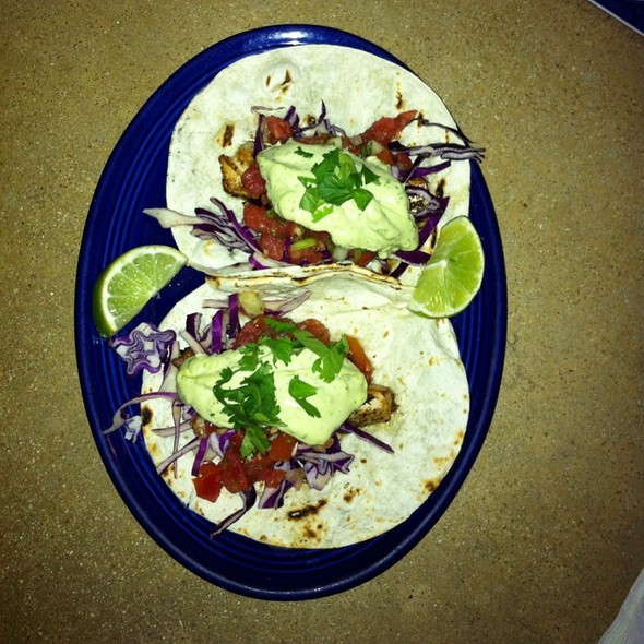 Grilled Mahi Mahi Fish Tacos @ front porch cafe