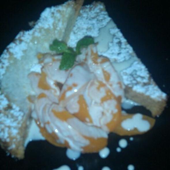 Browned Butter Pound Cake with Seasonal Fruit Relish - Ten Mercer, Seattle, WA