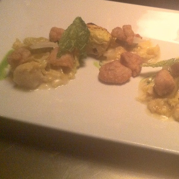 Sweetbreads, Cabbage, Horseradish, Dill, Bacon - The Bent Brick, Portland, OR