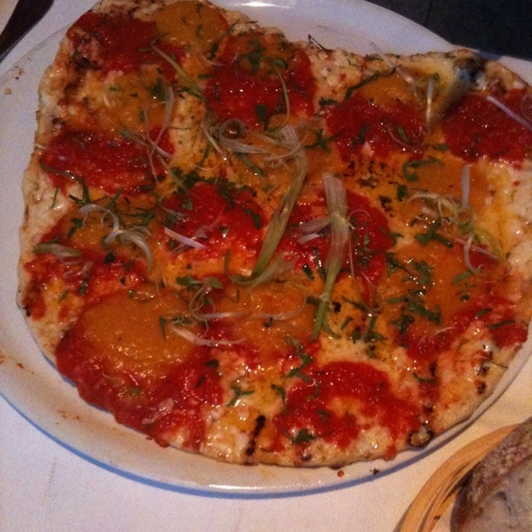 Grilled Pizza With Pumpkin Puree @ Alforno Restaurant