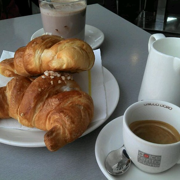 Coffe and Chantilly Cream filled Croissant