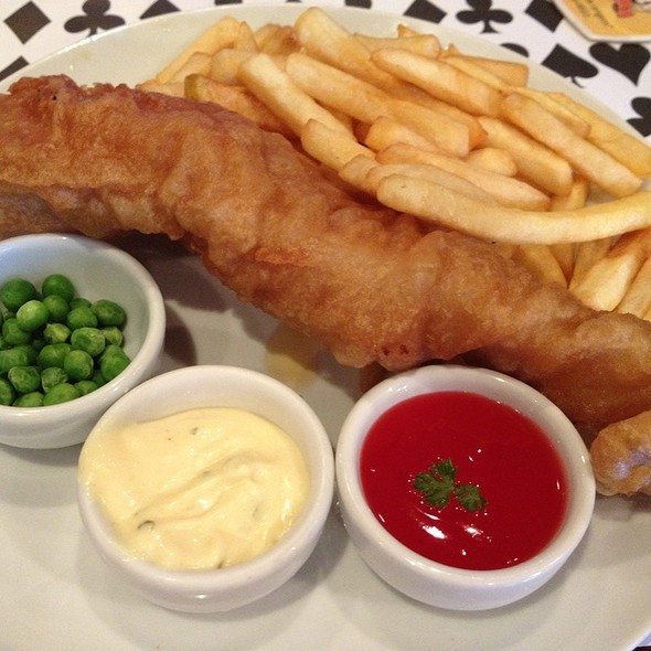 Fish and Chips Platter @ Black Swan Pub