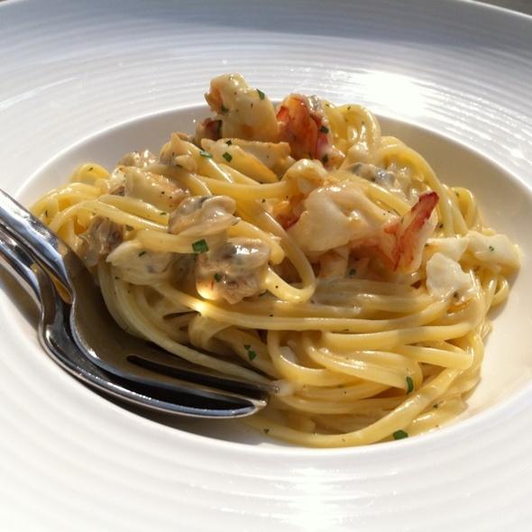 Seafood Linguine Carbonara @ Domani Restaurant