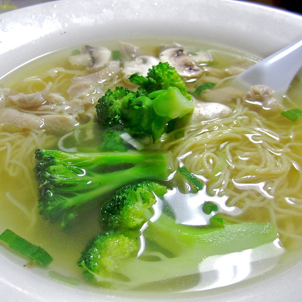 Chicken Noodle Soup with Broccoli - Golden Kim Tar Chinese Restaurant, San Francisco, CA