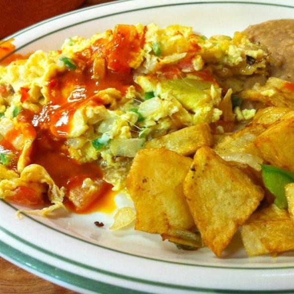 Migas A La Mexicana @ Taqueria Cancun Restaurant