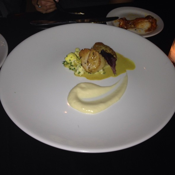 Scallops with Wasabi Sauce @ TIME
