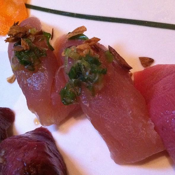 Garlic Albacore Nigiri - Otoro Sushi, San Francisco, CA