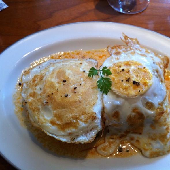 Eggs On Cod Cakes @ Blue Duck Tavern