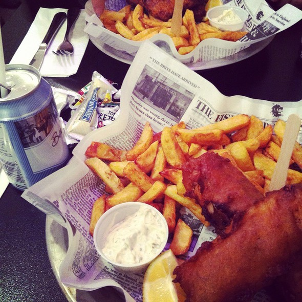Fish n' Chips (Haddock in Maple Syrup Batter) @ Brit&Chips
