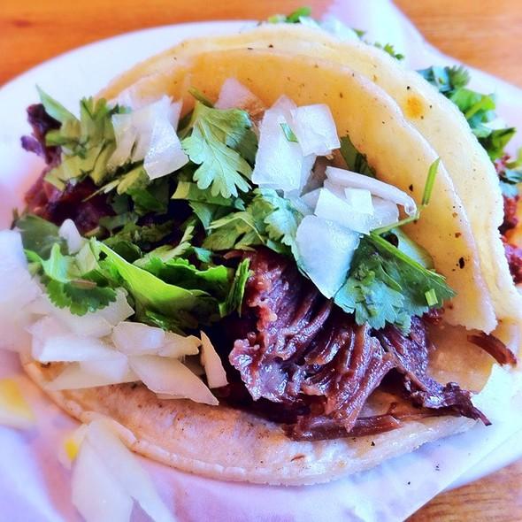 Barbacoa Beef Cheek Taco @ El Gallo Blanco