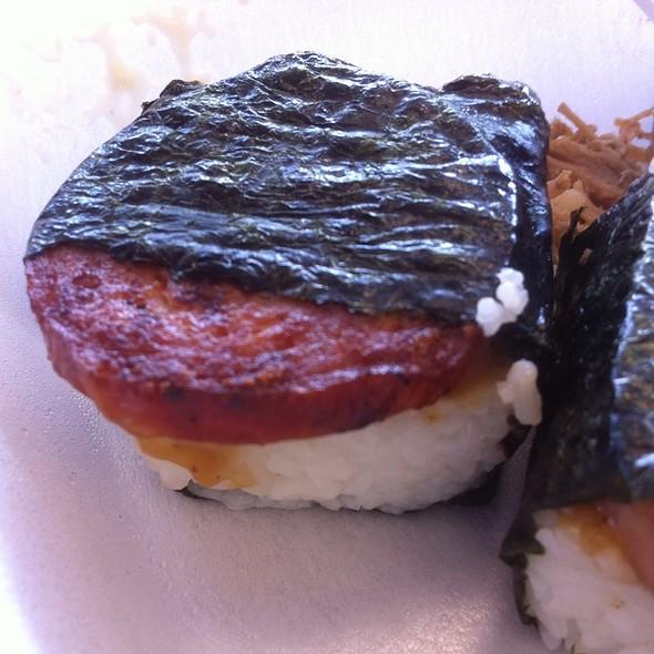 Portugese Musubi @ L&L Hawaiian Barbecue