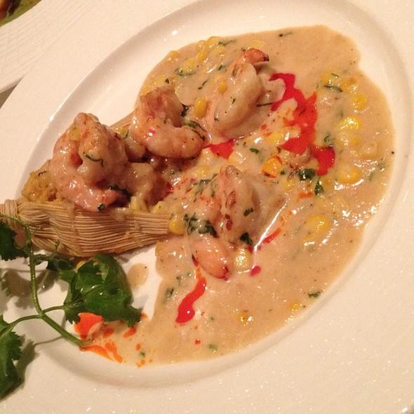 Shrimp Tamale With Garlic Cream Sauce @ Mesa Grill